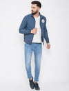 JUMP USA Men Denim Solid Bomber Jacket - JUMP USA