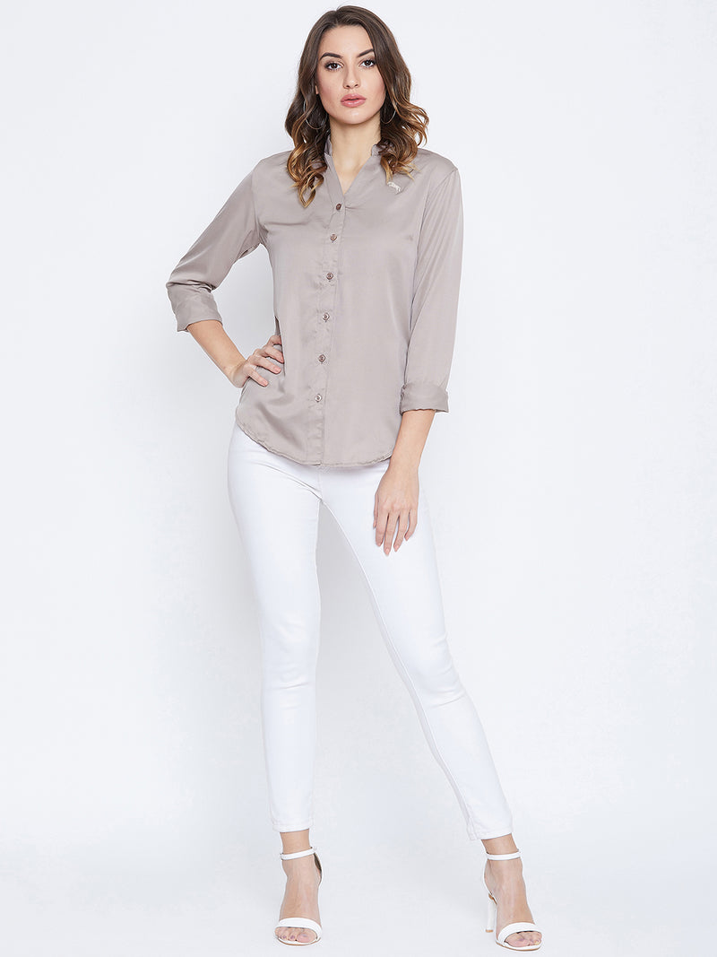 JUMP USA Women Beige Solid Casual Shirts