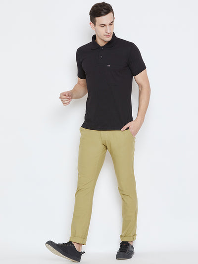 Men Beige Casual Trousers - JUMP USA