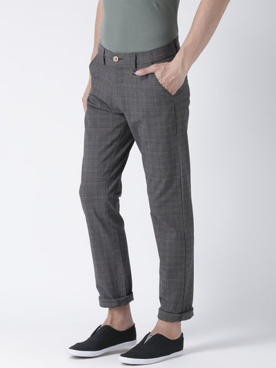 Men Relax Fit 4 Way Stretch Casual Blackwatch Pant - JUMP USA