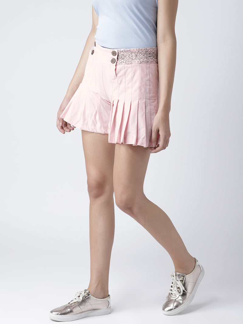 Women Pink Casual Shorts