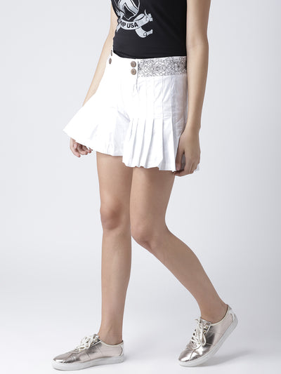 Women White Casual Shorts - JUMP USA