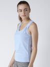 Women Blue Tank Tops - JUMP USA