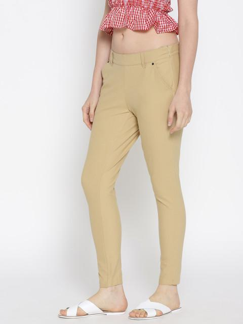 Women Solid Slim Fit Chinos