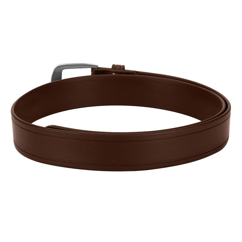 Casual Brown Color Synthetic Leather Belts For Men - JUMP USA