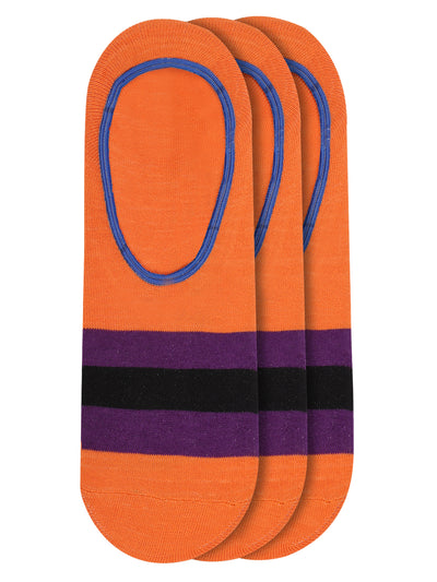 JUMP USA Women's Cotton Shoe Liner Socks (Orange,Purple,Black, Free Size) Pack of 3 - JUMP USA