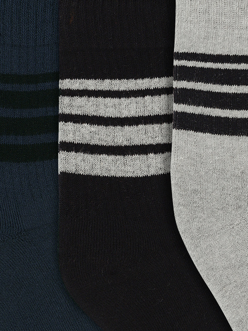 JUMP USA Men Pack of 3 calf length Socks