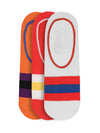 JUMP USA Women's Cotton Shoe Liner Socks (Orange, Red, White,Free Size) Pack of 3 - JUMP USA