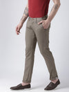 Men Brown Slim Fit Solid Chinos - JUMP USA