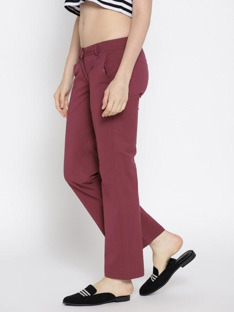Women Solid Flared Trousers