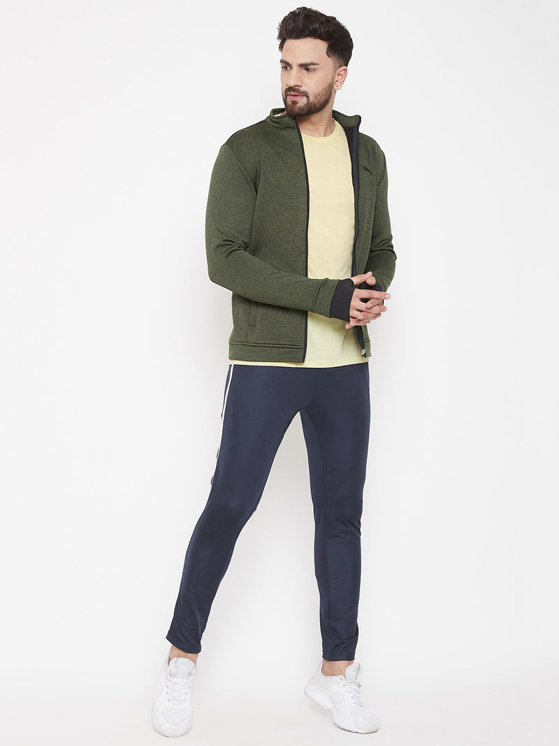 JUMP USA Men Olive Solid Bomber Jacket - JUMP USA