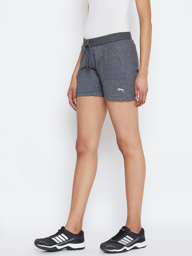 JUMP USA Women Grey Solid Shorts