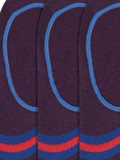 JUMP USA Women's Cotton Shoe Liner Socks (Purple,Blue,Pink, Free Size) Pack of 3 - JUMP USA