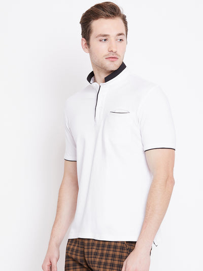 JUMP USA Men White Polo T-Shirt - JUMP USA