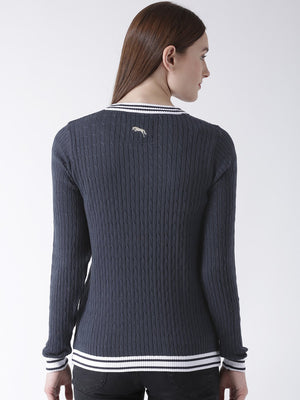 Women Full Sleeves Cotton Casual Sweater - Jump USA