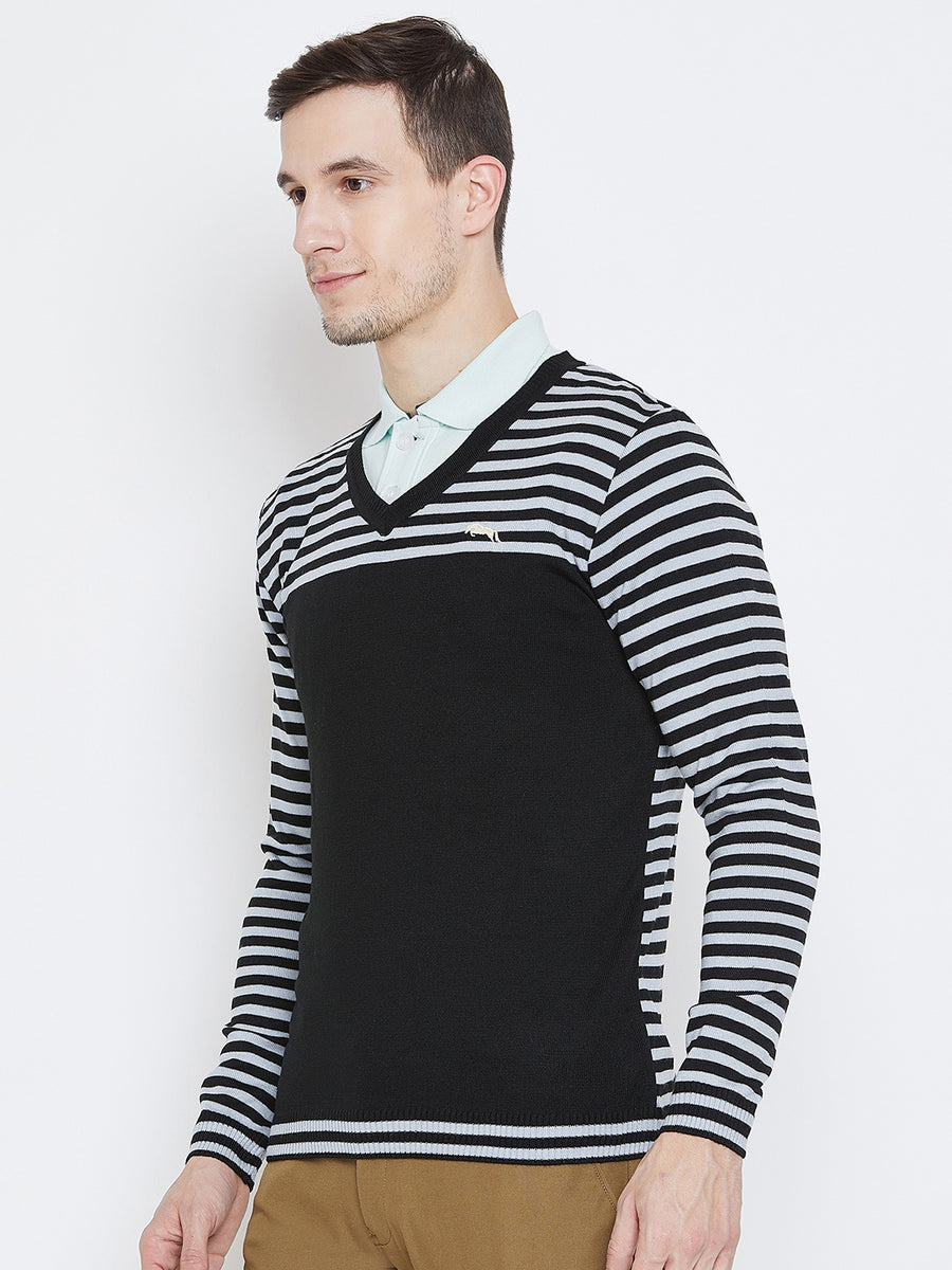 Men Black Casual Sweaters - JUMP USA