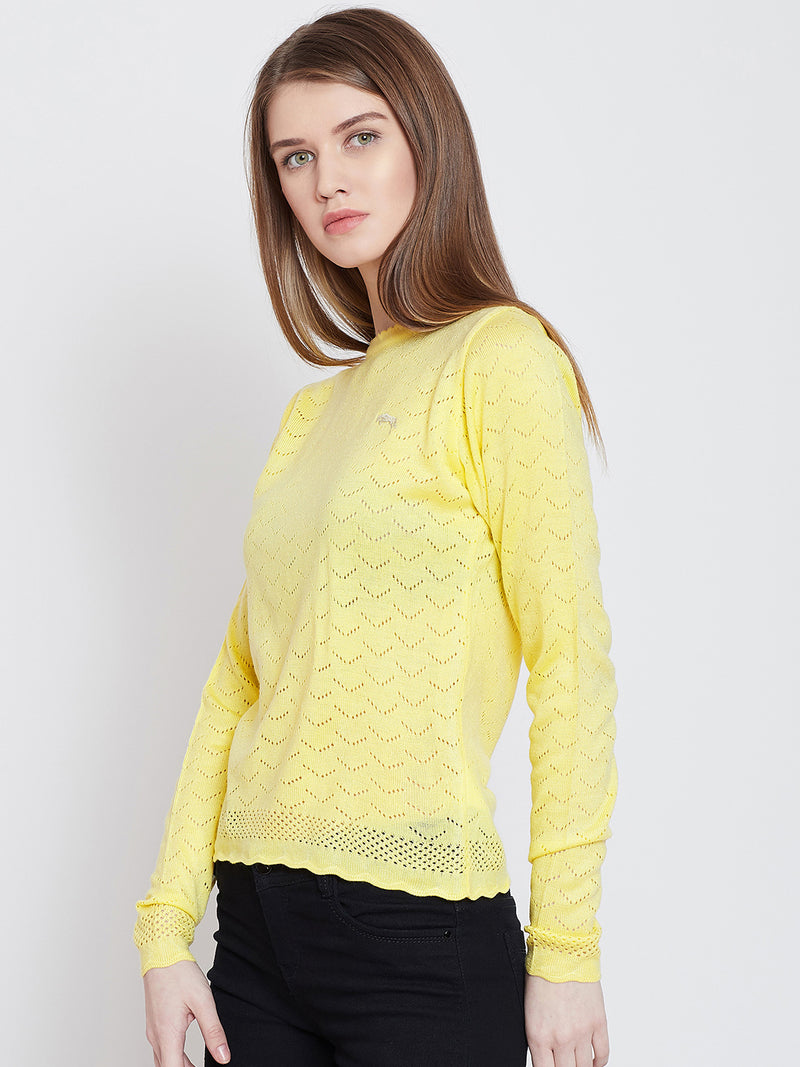 Women Yellow Casual Sweaters