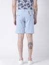 Men Blue Solid Chino Shorts - JUMP USA