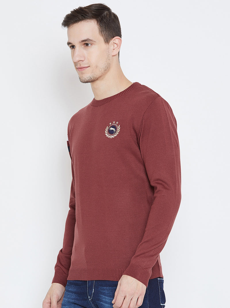 Men Red Casual Sweaters
