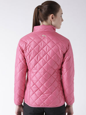 Women Polyster Casual Long Sleeve  Pink Winter Jacket - Jump USA