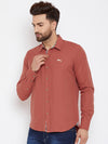 JUMP USA Men Orange Regular Fit Solid Casual Shirt - JUMP USA