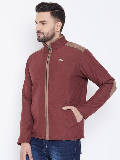 JUMP USA Men Red Solid Bomber Jacket - JUMP USA
