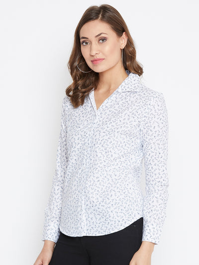 JUMP USA Women Regular Fit White Casual Shirt - JUMP USA