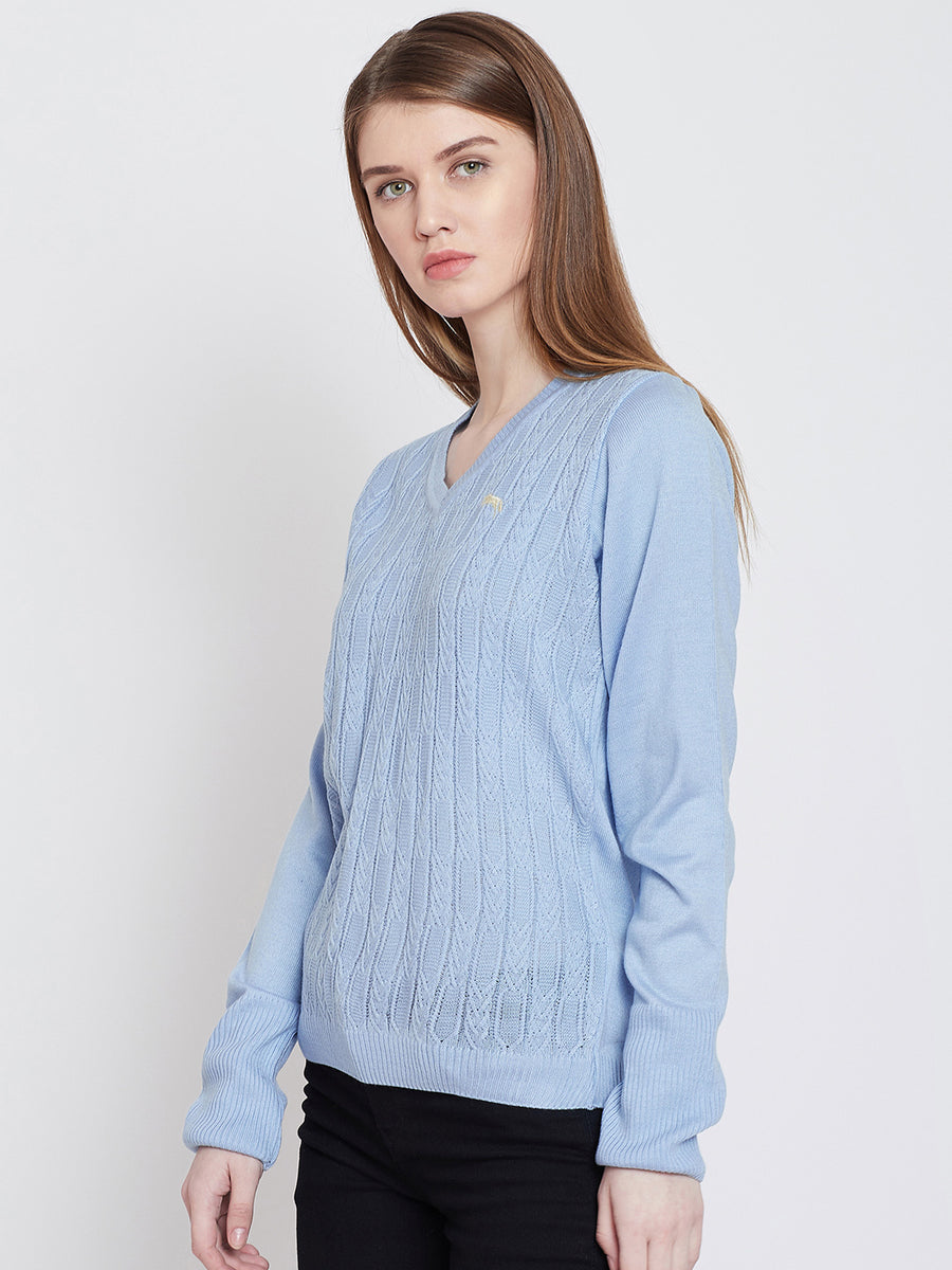 JUMP USA Women Blue Casual Sweaters 1 177c76528