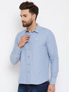 JUMP USA Men Blue Regular Fit Solid Casual Shirt - JUMP USA