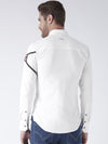 Men White Solid Cotton Regular Fit Shirt - JUMP USA