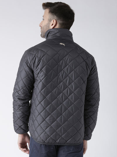 Men Solid Casual Padded Jacket - JUMP USA