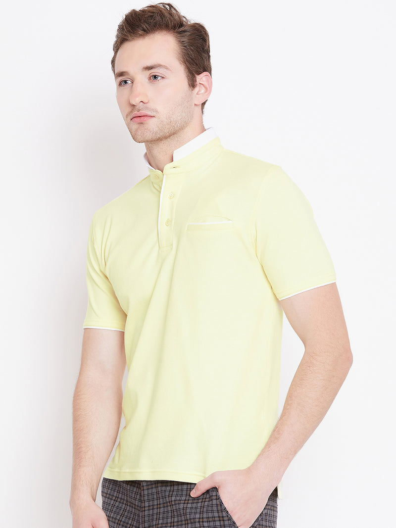 JUMP USA Men Yellow Polo T-Shirt