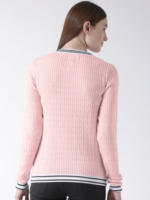 Women Full Sleeves Cotton Casual Sweater