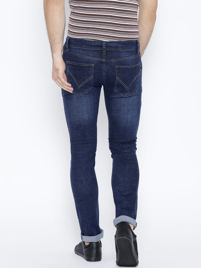 Men Blue Slim Fit Mid-Rise Clean Look Stretchable Jeans - JUMP USA