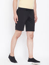 JUMP USA Men Black Solid Active Wear Shorts - JUMP USA