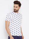 JUMP USA Men White Printed Round Neck T-Shirt - JUMP USA