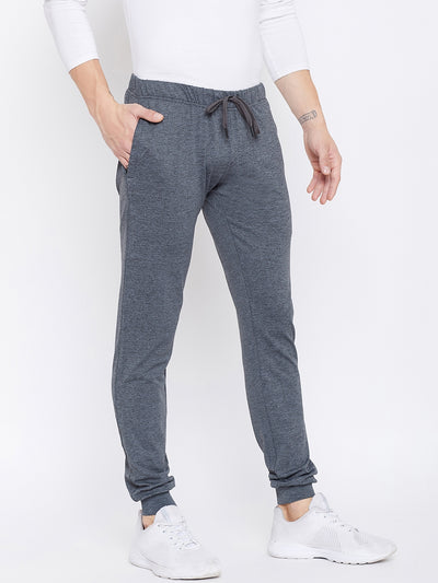 JUMP USA Men Slim Fit  Grey Solid Active Wear Joggers - JUMP USA