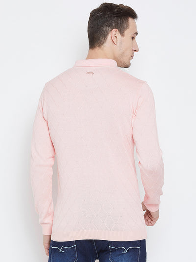 JUMP USA Men Pink Casual Sweaters_3