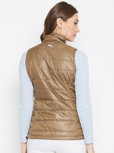 JUMP USA Women Brown Solid Padded Jacket - JUMP USA