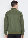 Men Casual Olive Bomber Jacket - JUMP USA