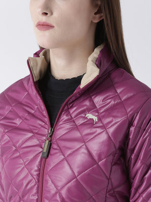 Women Full Sleeves Puffer Jacket