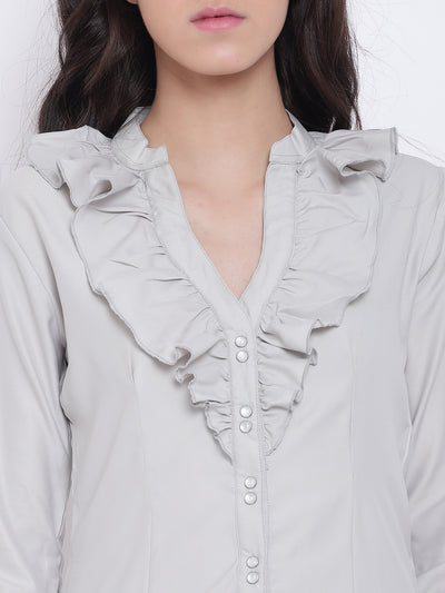 Women Grey Casual Tops - JUMP USA