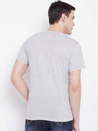 JUMP USA Men Grey Round Neck T-Shirt - JUMP USA