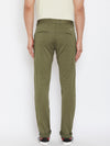 JUMP USA Men Solid Olive Casual Regular Fit Chinos Trousers - JUMP USA