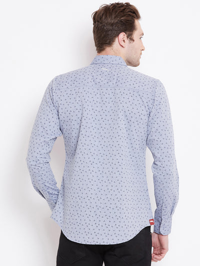 JUMP USA Men White Printed Casual Slim Fit Shirts_3