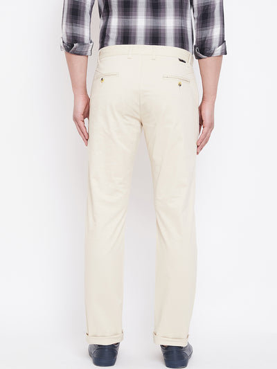 JUMP USA Men Beige Casual Regular Fit Trousers - JUMP USA