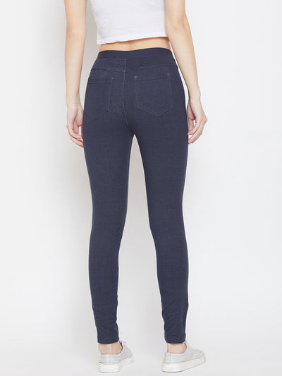 Women Navy Blue Casual Tights - JUMP USA