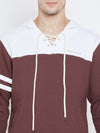Men Maroon Casual Sweatshirts - JUMP USA