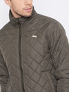 JUMP USA Men Olive Casual Quilted Jacket - JUMP USA