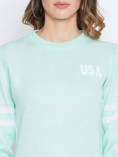 JUMP USA Women Green Solid Sweaters - JUMP USA